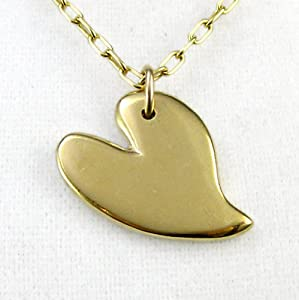Lovebird Gold Dipped Pendant Necklace on Rolo Chain