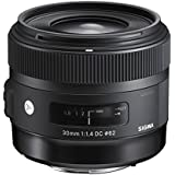 Sigma 30mm f/1.4 DC HSM Lens for Canon Digital SLR Cameras (Black)