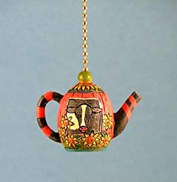 Whimsical Cow Teapot Kitchen Dining Ceiling Fan Light Pull
