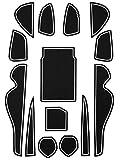 トヨタ 60系 ハリアー 専用設計 ゴム ラバー ポケットマット グロー 夜光 ホワイト 14点セット 傷 異音防止