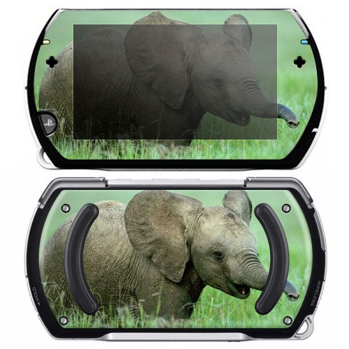 Baby Elephant Decorative Protector Skin Decal Sticker for Sony Playstation PSP Go System