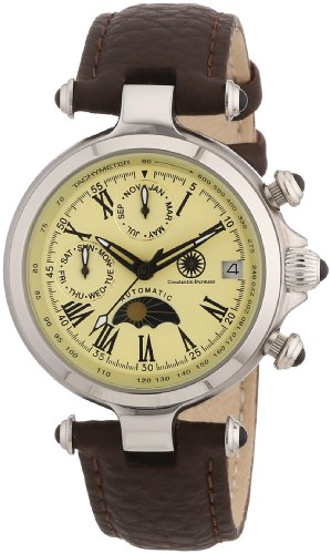 Constantin Durmont CD-MIRL-AT-LT-STST-CR - Orologio da polso donna, pelle, colore: marrone
