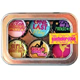 Bachelorette Bottle Cap 6 pc Magnet Set w/ Case