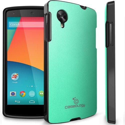 Nexus 5 Case, Caseology [Matte Hybrid] Google Nexus 5 Case [Turquoise Mint] Non-Slip Cover Shock Absorbent Tpu Armor Bumper Nexus 5 Case (For Google Nexus 5 Verizon, At&T Sprint, T-Mobile, Unlocked) front-731793