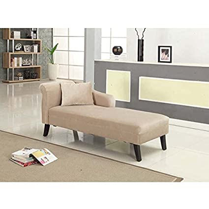 Armen Living Patterson Chaise, Taupe, 26x64x30