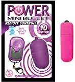 Nasstoys Power Mini Bullet Remote Control - Purple and Love and Ammo 10 Speed Wireless Waterproof Bullet Vibrator