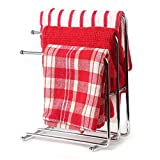 Home-X Free Standing Kitchen Towel Rack. Hand Towel Rack. Chrome (Towels Not Included)