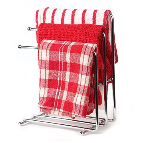 Home-X Free Standing Kitchen Towel Rack. Hand Towel Rack. Chrome (Towels Not Included) (Pull Out Countertop compare prices)