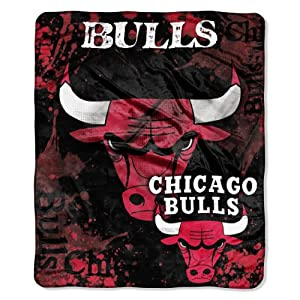 NBA Chicago Bulls Dropdown Royal Plush Raschel Throw Blanket, 50x60-Inch by Northwest