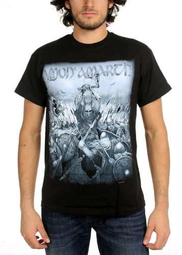 Amon Amarth - Uomo Wolford T-Shirt In Nero, Size: Medium, Color: Nero