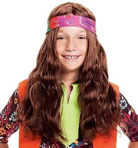 Long Hippie Child Wig with Bandana