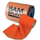 SAM Splint Combo Pack - Orange Wrap and Orange & Blue Splint (roll) by SAM Medical