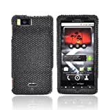 For Motorola Droid X Bling Hard Case Cover BLACK