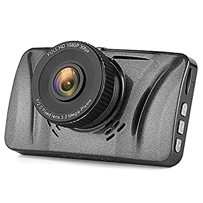 """Telico C15 3.0"""" LCD Full HD 1080p Dash Cam Pro Car Dashboard Camera 150 Degress Wide Angle with G-Sensor, WDR Superior Quality, Motion Detection, Parking Monitor, Loop Recording by Telico"""