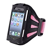 Deluxe Armband Compatible With Apple iPhone 4 – Version iPhone 4S – AT&T, Sprint, Version 16GB 32GB 64GB, Black Light Pink Reviews