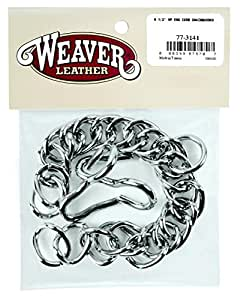 """Weaver Leather 91/2"""" NP ENG. CURB CHAIN&HOOKS"""