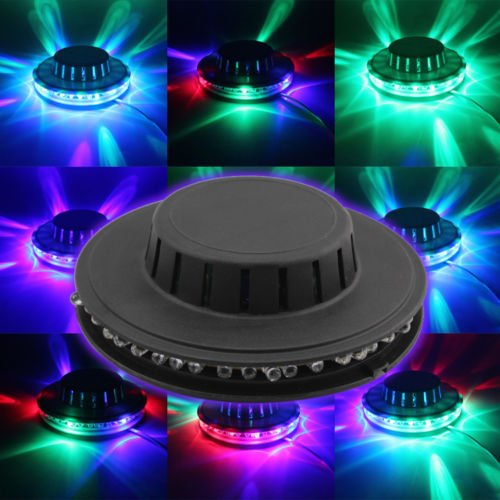 Whitesnowing Rotating Party Stage Sunflower 48 Led Rgb Light 8W Voice-Activated/Auto New