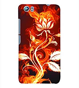 Fuson 3D Printed Floral Pattern Designer Back Case Cover for Micromax Canvas Fire 4 A107 - D1025