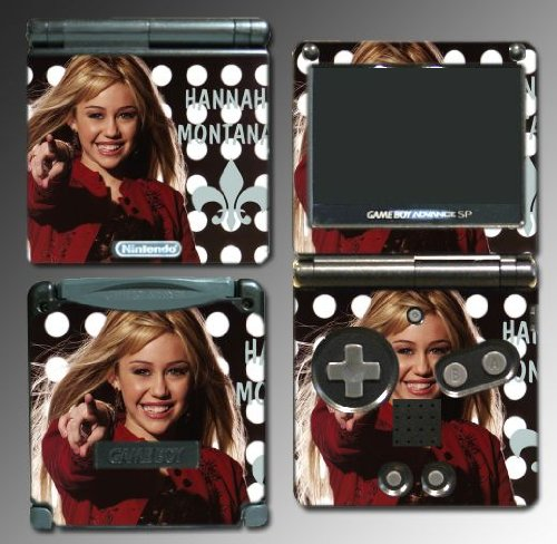 Gamerz Skinz Hannah Montana Miley Cyrus Vinyl Decal Skin Protector Cover 10 For Nintendo Gba Sp Gameboy Advance