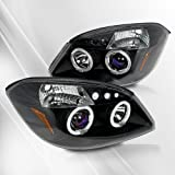 Chevy Cobalt 05 06 Projector Headlights /w Halo/Angel-Eyes ~ pair set (Black)