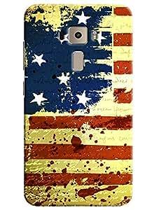 Omnam Us Flag Stylish Printed Designer Back Cover Case For Asus Zenfone 3 ZE552KL