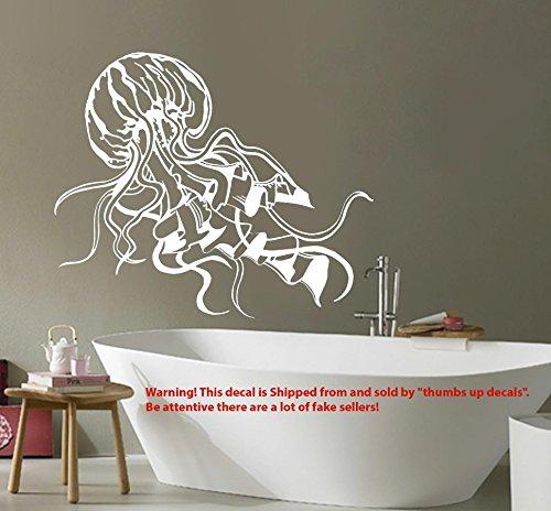 JELLYFISH Decal Sea Life Wall Decals BATHROOM Jelly Fish Vinyl Sticker Ocean Animal Home Decor Boho Decoration T221