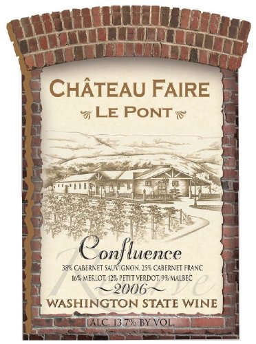 "2006 Chateau Faire Le Pont ""Confluence"" Washington State Red Blend 750 Ml"