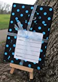 Dark Blue Dotty Luggage Tag and Passport Cover Gift Set
