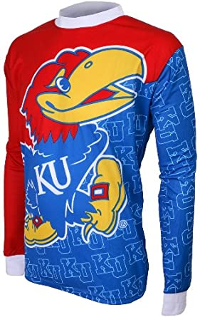 NCAA Kansas Jayhawks Long Sleeve Performance BMX Jersey Boys