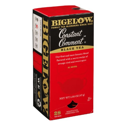 Bigelow Tea Bags, Constant Comment Black, 28-Count Boxes (Pack Of 6) front-473274