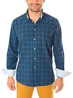 VICKERS Camisa Hombre Harvard (Azul Marino)