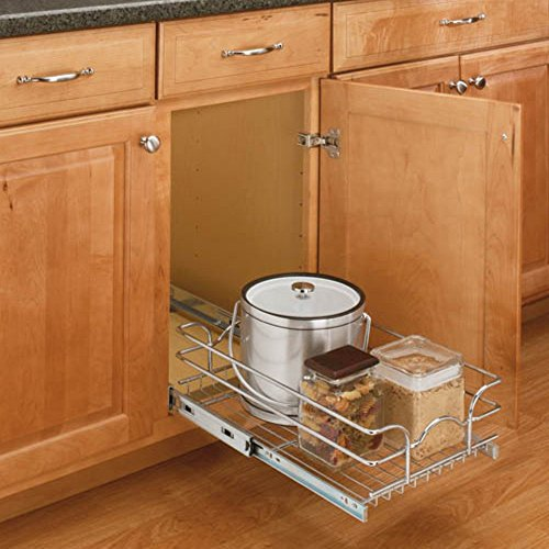 Rev-a-Shelf Pull-Out Single Wire Basket (Kitchen Cabinet Pull Out Racks compare prices)