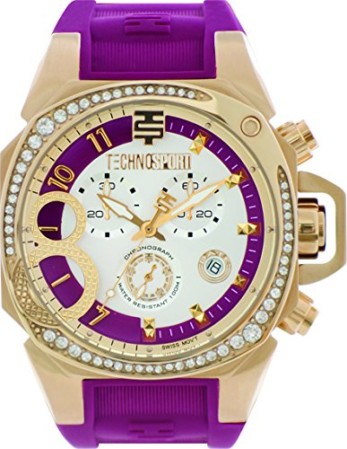 technosport-ts-103-3-womens-cranberry-silicone-band-gold-bezel-40mm-cranberry-and-gold-dialstainless