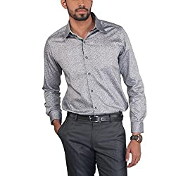 Provogue Men's Casual Shirt (8903522441677_103532-BK-22_Small_Black)