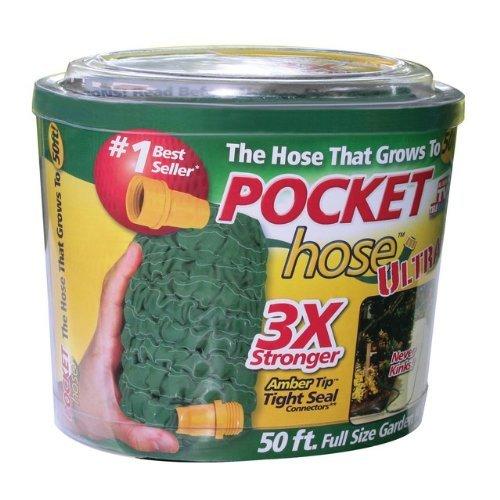 Pocket Hose ULTRA Telebrands 50FT Expandable Garden Hose AMBER TIP ...