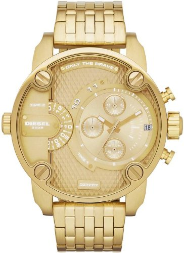 Diesel Men's DZ7287 The Daddies Series Analog Display Analog Quartz Gold Watch