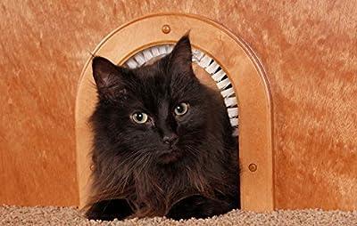 Cat Door - Cathole Interior Pet Door With Cleaning Brush by CATHOLE