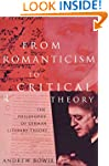 From Romanticism to Critical Theory:...