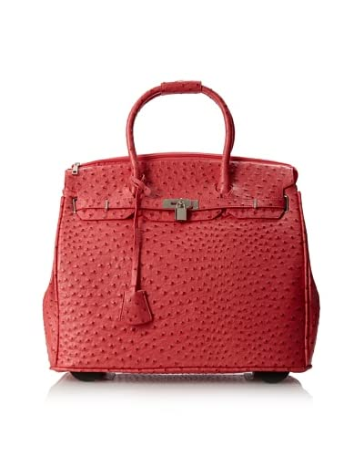 KC Jagger Women's Kendall Rolling Bag, Red Ostrich As You See
