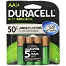 Duracell Rechargeable AA Batteries 4 Count (Packaging May Vary)