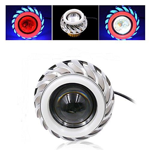 Bluefire 12V 30W 1200LM Moto doppio Halo Proiettore Integrato Lens Hi/Lo fascio LED lampadina fari Angel Devil Occhi Kit
