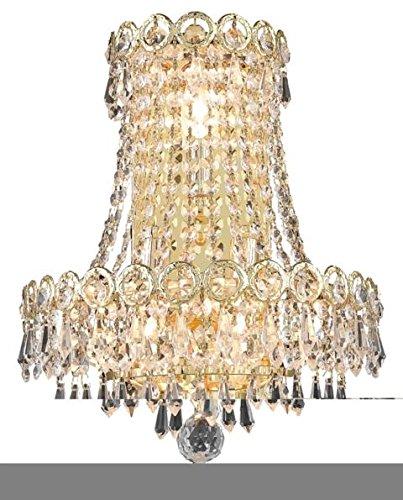"""Agathe 3-Light 12""""D Crystal Wall Sconce 1617W12Sg-Ss"""