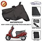 #10: Fabtec Premium Quality Waterproof Double Stiched Scooty Body Cover With Heavy Buckle Lock & Storage Bag For Honda Activa 4G