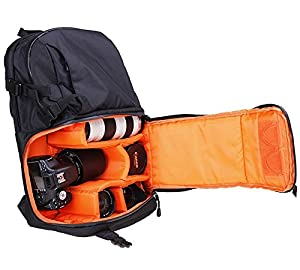 Cheerwing Travel Camera Backpack Bag Case for DSLR SLR Cameras and Accessories