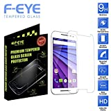 [Motorola Moto G (3rd Gen)Tempered-Glass] F-EYE® High Definition (HD) Round Edge Screen Protector For Motorola...
