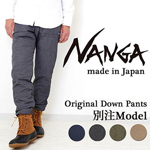 (ナンガ)NANGA nanga-002 DOWN PANTS/ アウトドア メンズ 登山 ファッション 男性用 コンパクト 防寒 バイク 自転車 インナー 防寒着 雪国 雪かき M GRAY