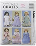 """McCall's Patterns M2609 Clothes For 18"""" Doll, One Size Only"""