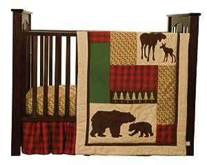 Amazon Com Trend Lab Northwoods 3 Piece Crib Bedding Set