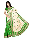 MEGHALYA Green Color Women's Silky Touch Saree With Blouse Piece.