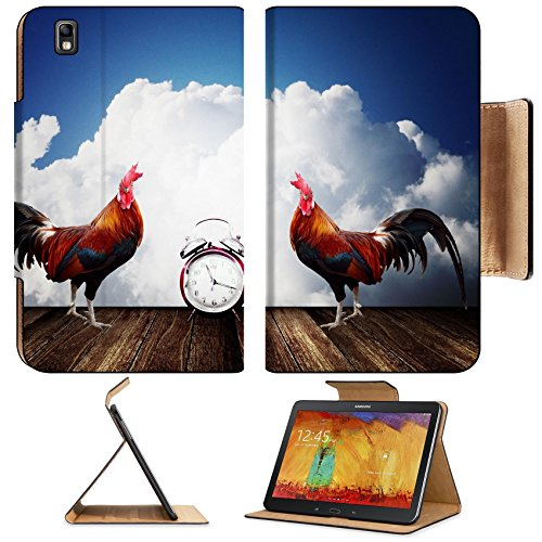 Samsung Galaxy Tab Pro 8.4 Tablet Flip Case Wake up with rooster crows concept IMAGE 26023624 by MSD Customized Premium Deluxe Pu Leather generation Accessories HD Wifi Luxury Protector (Rooster Wi Fi compare prices)